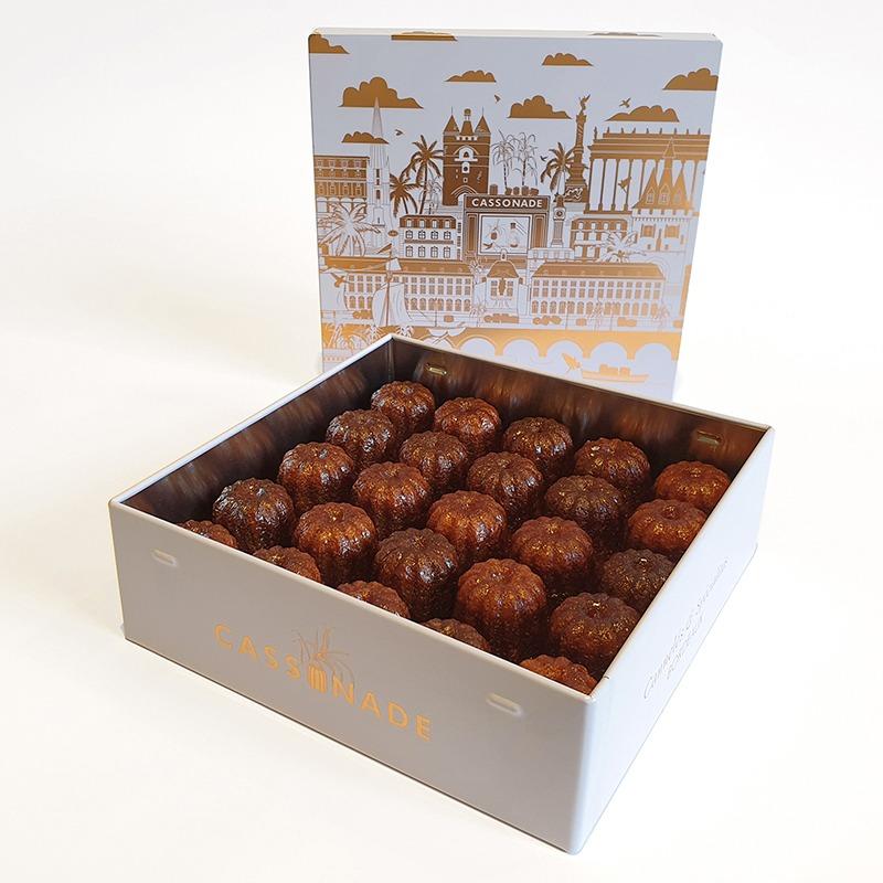 Coffret cuivre 25 cannelés petits classique Cassonade Bordeaux